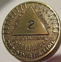 10 Aluminum AA Alcoholics Anonymous 24 Hours Medallion Desire Chip Coin 24hrs