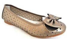 DOWN TO EARTH LADIES BRONZE LEATHER CASUAL BALLERINAS SHOES WOMANS UK 4 - EUR 37