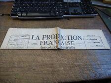 la production française agricole et industrielle - n° 509 - 4 septembre  1938