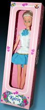 Katrin 29cm juego muñeca hong kong OVP 80s rare vintage Doll bar pet Mode muñeca rar