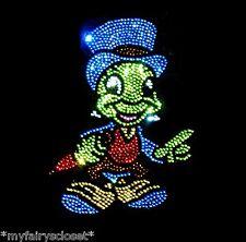 Jiminy Cricket iron on rhinestone transfer applique bling patch