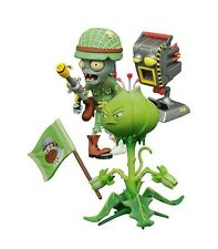 "PLANTS VS ZOMBIES GW2 ""FOOT SOLDIER ZOMBIE & WEED"" ACTION FIGURE DIAMOND SELECT"