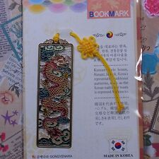 Metal Bookmark Korea Traditional Pattern RED Dragon  Freeshipping