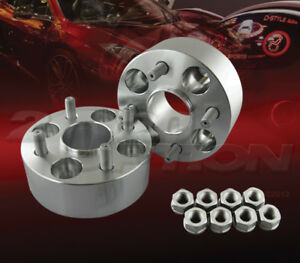 "2pc 50mm (2"") Thick 4x100 Hub Centric Wheel Adapters Spacers M12x1.5 54.1mm"