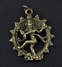 Pendentif Shiva Nataraj Nataraja Amulette en Laiton Amulet Déité Hindou 1724