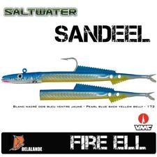 2 Stück DELALANDE Sandaal / Fire Eel 18 cm Farbcode 172 + Darting Jig Head 125g