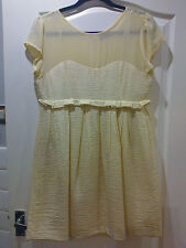 PRETTY CREAM FULLY LINED DRESS, SIZE 12 **VGC**