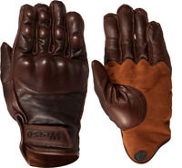 Weise Victory Short Leather Motorcycle Glove - Brown - New for 2017