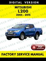 Mitsubishi L200 2005-2015 Factory Service Repair Workshop Manual