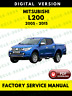 Mitsubishi L200 2005-2015 Factory Service Repair Workshop Manual