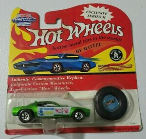 DON PRUDHOMME SNAKE FUNNY CAR 1/64 HOT WHEELS VINTAGE EXCLUSIVE SERIES II GREEN
