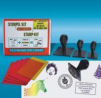 DIY Stamp-Kit, Logo stamps, also photograph motifs