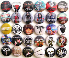 MY CHEMICAL ROMANCE Button Badges Pins The Black Parade Teenagers Sing Lot of 30