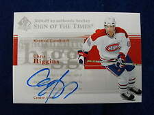 2004 05 SP Authentic Chris Higgins  sign of the times autograph  Canadiens