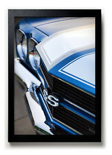 1970 Chevrolet Chevelle SS Photo Print 13x19 Mancave Art Blue Muscle Car 396 454