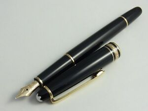 Montblanc Meisterstuck 144 Fountain Pen F (unicolor nib) (used) FREE SHIPPING