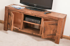 SOLID  RUSTIC SAWN PLANK TV MEDIA STAND  | Hand-waxed | Handmade to Order