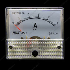 AC 5A Analog Ammeter Panel Pointer AMP Current Meter Gauge 85L1 0-5A AC