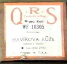 "QRS ""HAVIROVA RUZE"" (Miner's Rose) Jos. Jiran Player Piano Roll WF-10305"