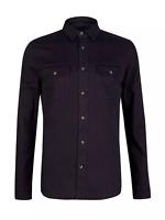 Burton Black Long Sleeve Denim Stretch Shirt TD191 FF 11