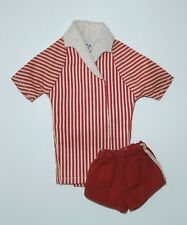 Vintage Painted Hair SL KEN ORIGINAL SWIMSUIT OUTFIT Striped Jacket & Shorts