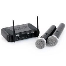 Skytec Stwm712 Set Microfoni Wireless 2 Canali Vhf 50M Led Riduzione Rumore