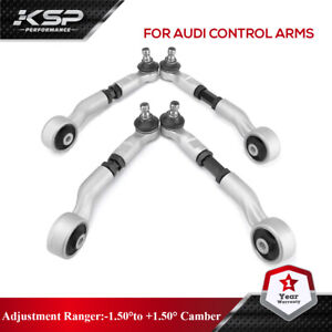 KSP 4PC Adjustable Upper Control Arms Kit For Audi A4 S4 A5 S5 Q5 09-13