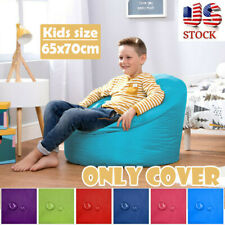 65x70cm Children Bean Bag Cover Chair Kids Lazy Lounger Seat Waterproof