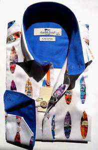 Men's Printed Shirt Slim Fit Long Sleeve Cotton S, XXL  Claudio Lugli Surfboard