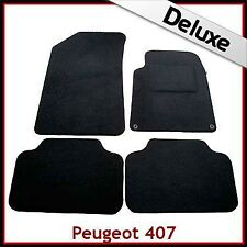 Peugeot 407 Coupe 2004-2010 Tailored LUXURY 1300g Capet Car Floor Mats BLACk