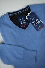TOM TAILOR Men's SMALL Cotton Basic V Neck Sweater / Pullover #0265