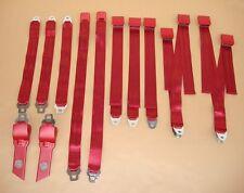 PG Classic 1850-70BUK-528 Mopar 1970 B-Body BUCKET Seat Belt Set RED
