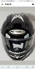 KBC FORCE BLACK SILVER MOTORCYCLE MOTORBIKE HELMET SIZE L