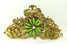 Hair Clip Jeweled Flower Green Elegant Summer Hair Fashion New 14