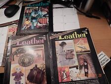 Make It With Leather Issues w/ Pattern Pull-Out sections:March,May,&July 1981