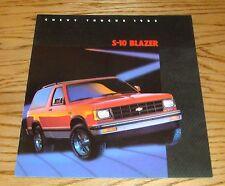 Original 1985 Chevrolet Truck S-10 Blazer Sales Brochure 85 Chevy
