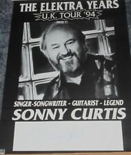 SONNY CURTIS - SINGER / GUITARIST/ LEGEND -  POSTER 12x16 SIGNED.-THE CRICKETS