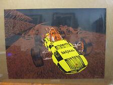 Vintage Bardahl Racing car Black light Poster 1970's 11575