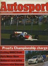 AUTOSPORT OTT 11th 1984 * European GP & Rally San Remo *