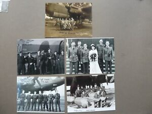 5 Assorted Photos Signed  Bomber Command Veteran