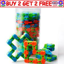 24 Wacky Tracks Snake Fidget Toy Anxiety Stress Relief ADHD Fidget Sensory R3 UK