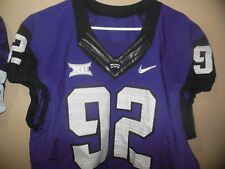 TCU HORN FROGS GAME USED FOOTBALL JERSEY