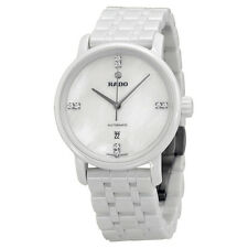 Rado Diamaster Automatic Mother of Pearl Dial White Ceramic Ladies Watch