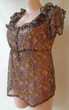 Millers frill sleeves plus size 16 ditzy print top