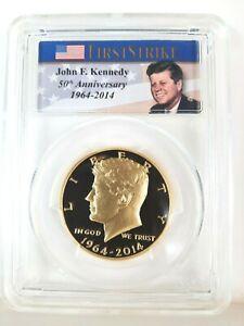 2014-W Gold 50th Anniversary Kennedy Half Dollar Coin First Strike PCGS PR70DCAM