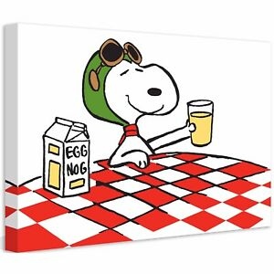 Marmont Hill 36 X 24 Inch Peanuts Snoopy Ace Drink Ready To Hang Canvas Artwork
