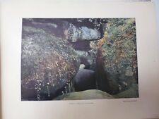 SUISSE BRETONNE/ Gravure 19° in folio couleur /HUELGOAT. LE GOUFFRE