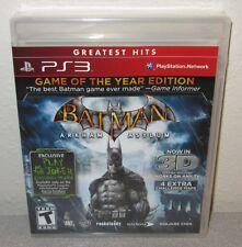 BATMAN Arkham Asylum GOTY Sealed NEW PlayStation 3 DC Comics Action Clear Case
