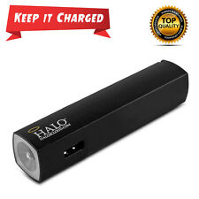Phone portable battery charger stick travel power Bank w/ flashlight back up