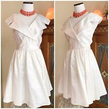 New listing Vintage 80s 90s White Prom Dress S